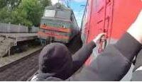 """""""Train surfing"""", un jeu particulièrement dangereux"""